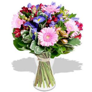 Bouquet bleu/rose